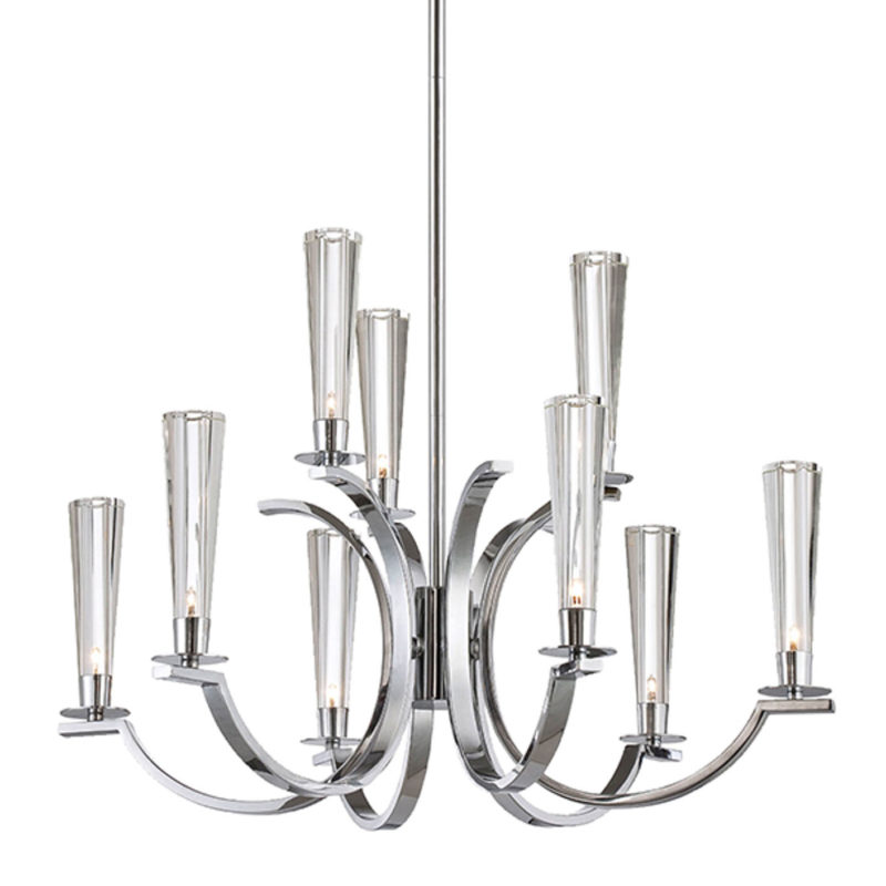 EuroFase – Cromo 25634-013, 9-light chandelier