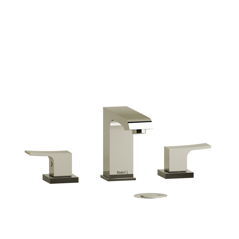 Riobel ZO08PN – Zendo, 3 Hole Lavatory Faucet with Push Drain, in Polished Nickel