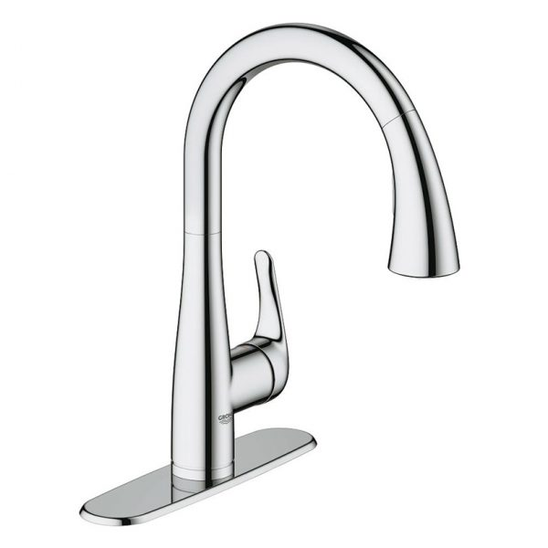 Grohe 30211000 Elberon Pull Down Kitchen Faucet Amati Canada