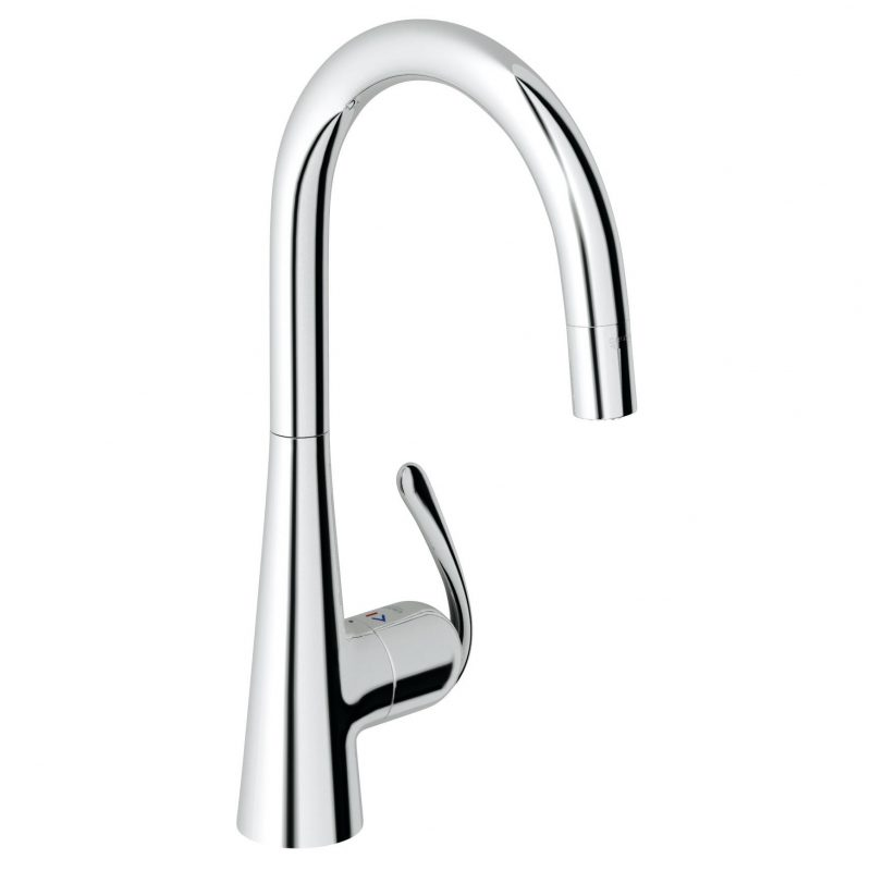 Grohe 32226000 – Ladylux3 Pro High Arc Slim Single Hole Pull Down Faucet, For Kitchen.