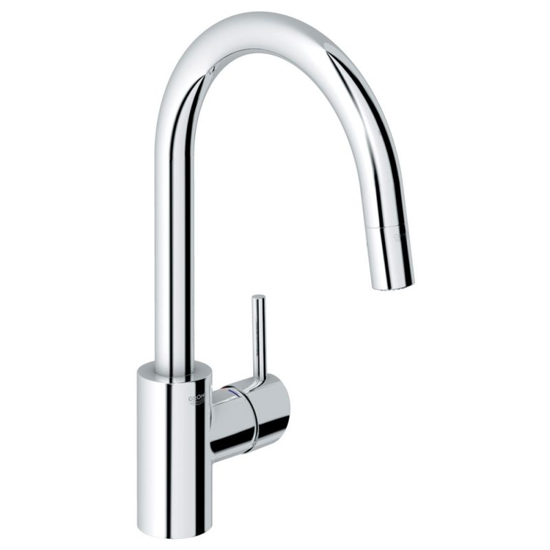 Grohe 32665001 – Concetto, Dual Spray High Spout 360° Swivel Area Pull Down Faucet, for Sinks.