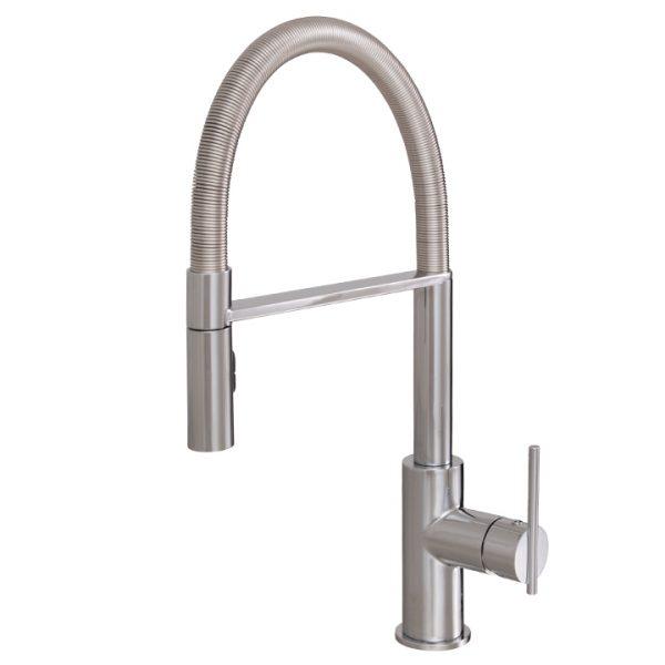 Aquabrass Zest 3845N-PC - Pull Down Kitchen Faucet, Dual Stream ...