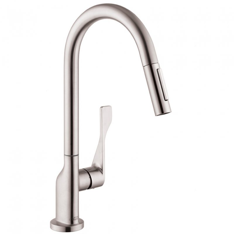 Axor 39835801 – Citterio, Pull Down Kitchen Faucet
