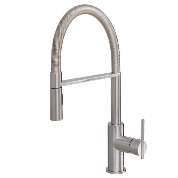 Aquabrass Zest 3845N-PC Pull Down Kitchen Faucet with Dual Stream
