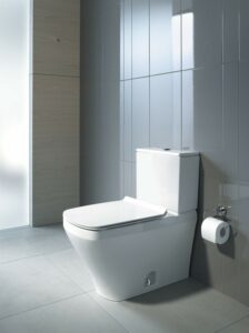 Duravit-One-Piece Toilet Durastyle with Seat, Elongated, Dual Flush
