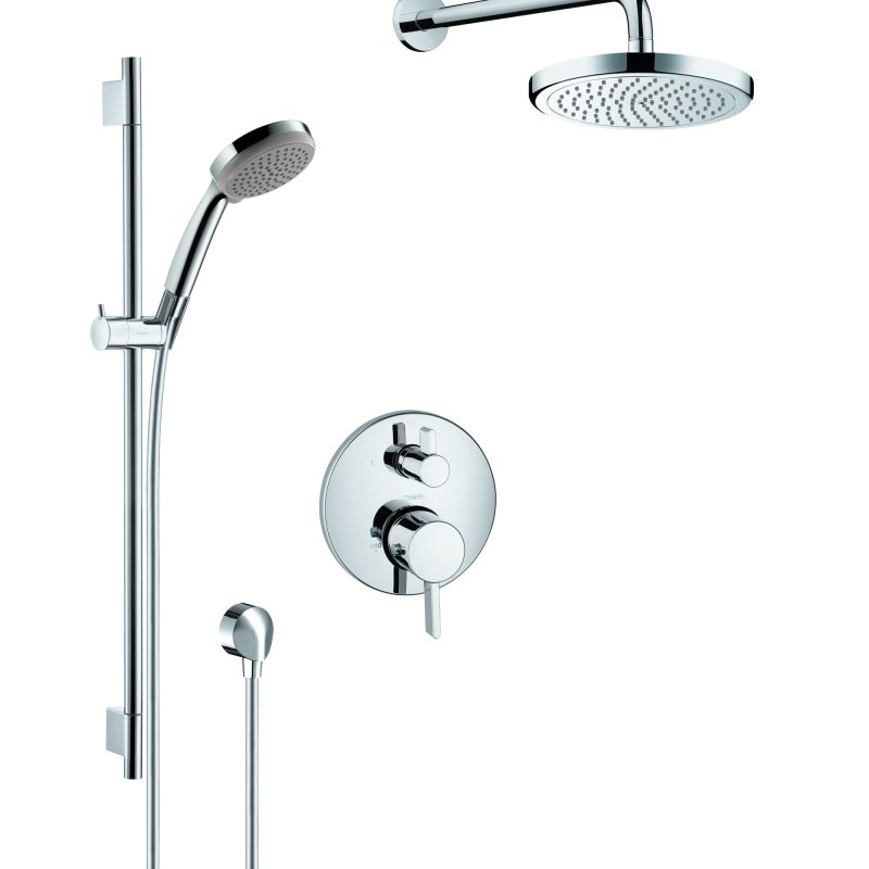 Hansgrohe HG-Kit2 – Shower Kit 2, Wallbar With Shower