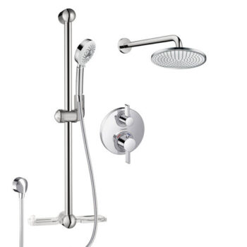 Hansgrohe HG-KIT10 – Thermostatic Shower with Wall Bar