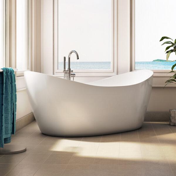 Alcove Eidel Weiss Freestanding Bathtub