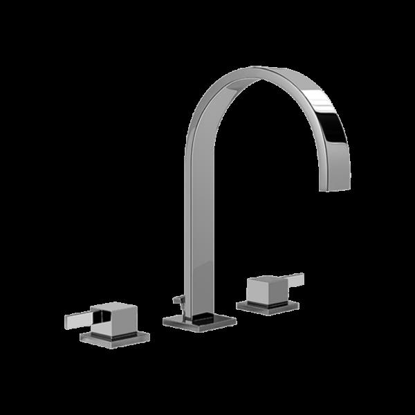 Graff - G-6210-LM39B-PC - Qubic Tre Widespread Lavatory Faucet