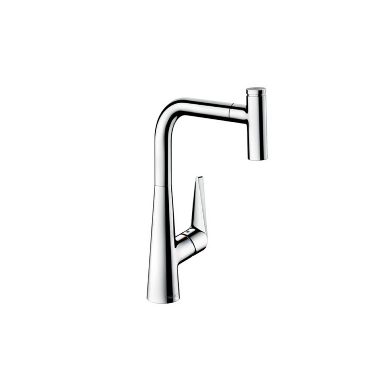 Hansgrohe 72821001 – Talis Select S 1-Spray HighArc Kitchen Faucet, Pull-Out