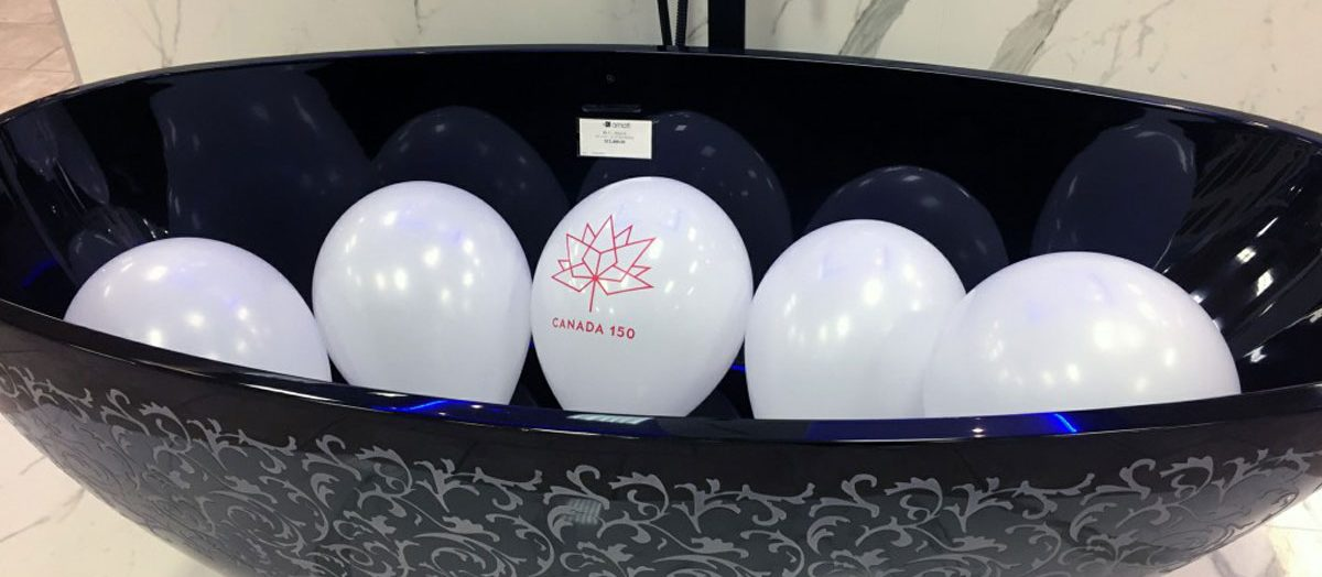 Photo of decoration balloons amati canada 150 event