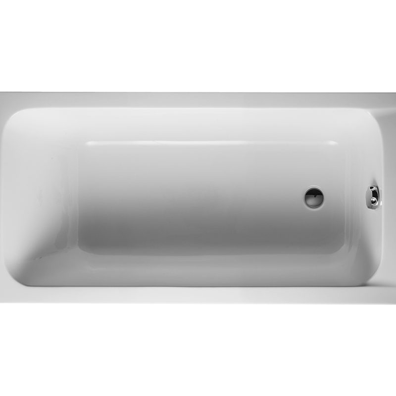 <b>Duravit D-Code Bathtub #700095</b>– Drop-in Tub, with One Backrest Slope