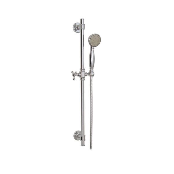 <b>Aquabrass 12762-PC</b> - 3 Sprays Aquaklassic, Complete Shower Rail