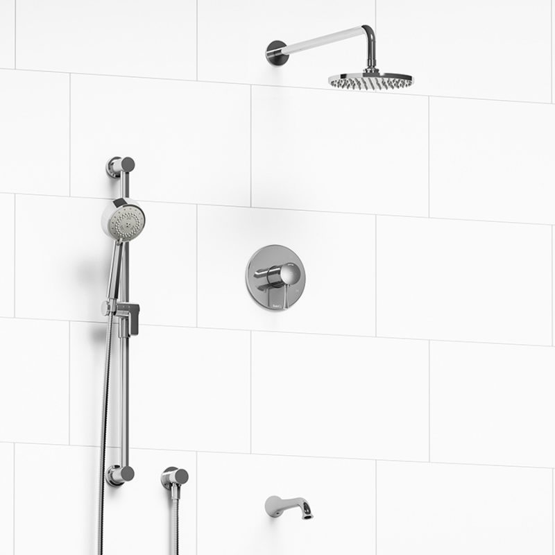 Riobel KIT#1345EDTMC – Edge, 3 Way Shower System