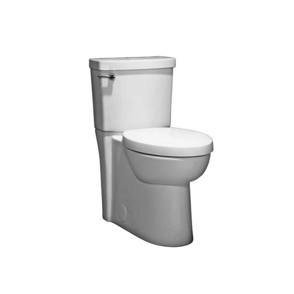 <b>American Standard 4000104.020 + 3075120.020</b> – Studio, Concealed Trapway Right Height FloWise Elongated Toilet with Seat