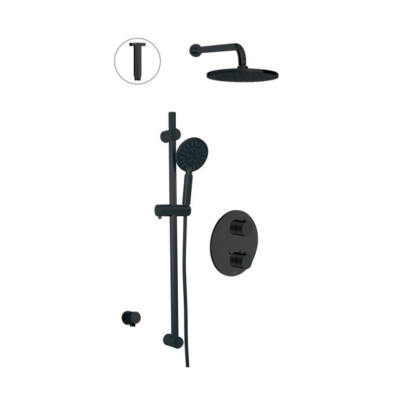 Alt 91482-41 – Circo, Thermostatic Shower System In Electro Black