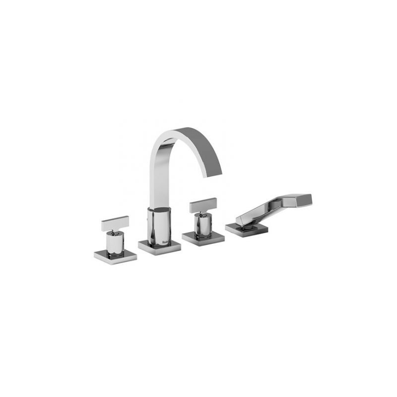 Riobel PFTQ12T – Profile, 4-Piece Deck-Mount Tub Filler with Hand Shower (Showroom Display)