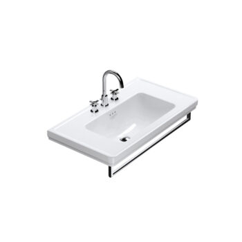 Catalano Canova Royal 90 - Wall-Mount Sink + Towel Bar in Chrome