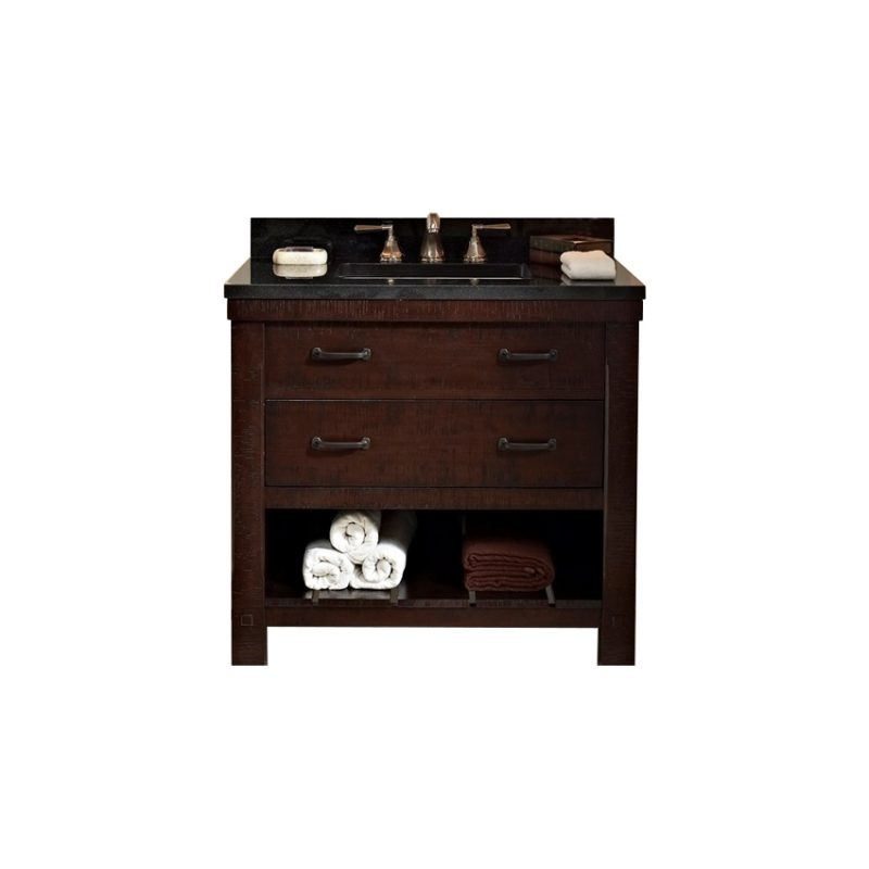 "Fairmont Designs Napa – 36"" Aged Cabernet Vanity (Showroom Display)"