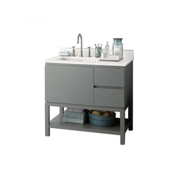 Ronbow Chloe – 36″ Vanity + White Stone Top (Showroom Display)