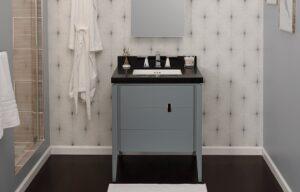 """Ronbow Zoe - 30"""" Vanity + black Stone Top (showroom Display)"""