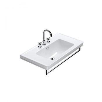 Catalano Canova Royal 90 - Wall-Mount Sink + Towel Bar in Chrome