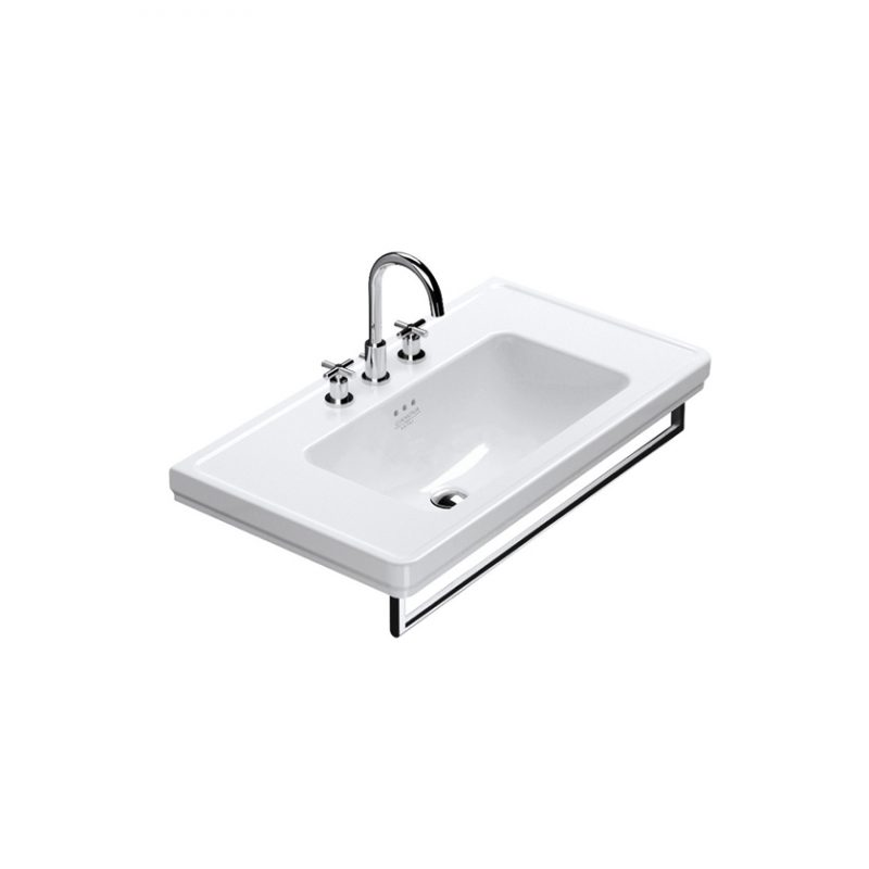 Catalano Canova Royal 90 – Wall-Mount Sink + Towel Bar in Chrome