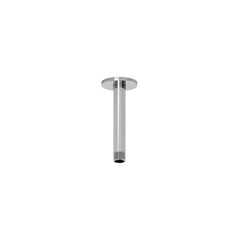"Riobel P508 - 15 CM (6"") Vertical Shower Arm, in Chrome and Black"