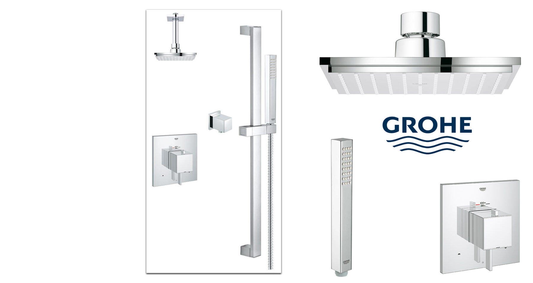 GROHE Square Dual Shower System