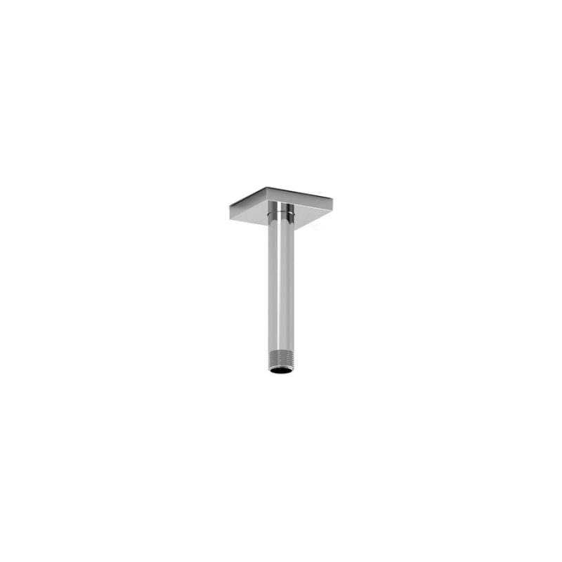 "Riobel P518 - 15 CM (6"") Vertical Shower Arm, in Chrome and Black"
