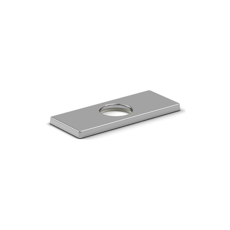 "Riobel P5604C - 4"" Center Rectangular Deck Plate"