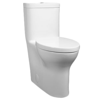 Photo of white smart toilet