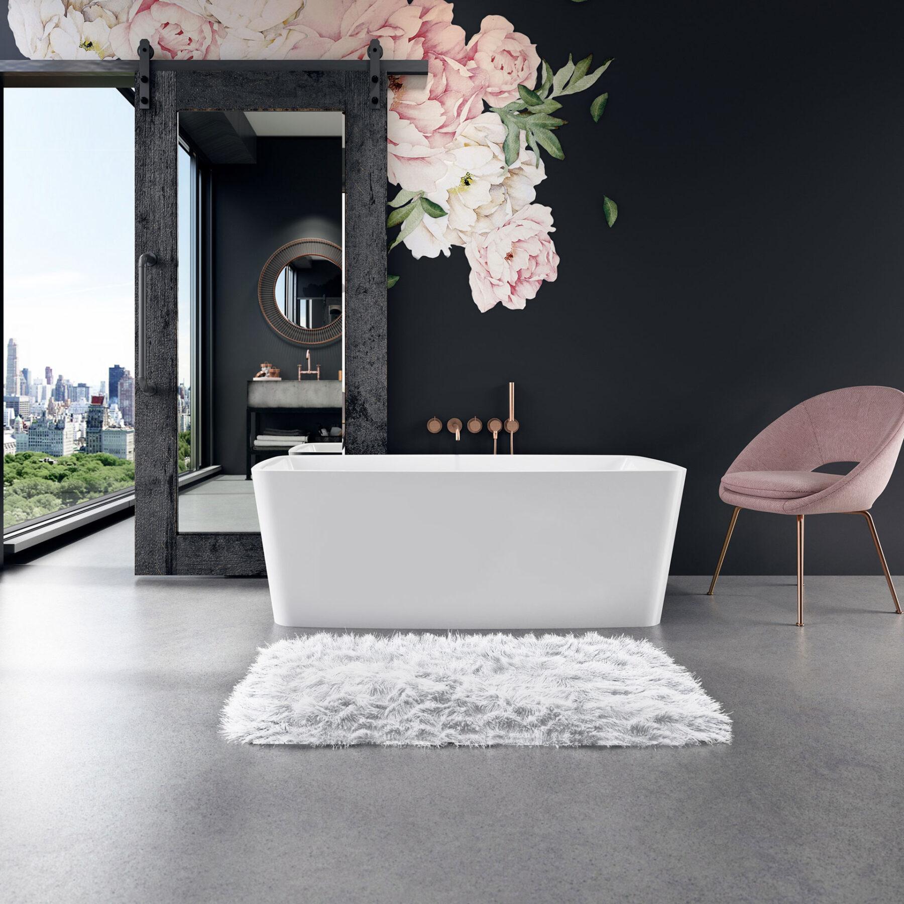 luxury bathtub in condo