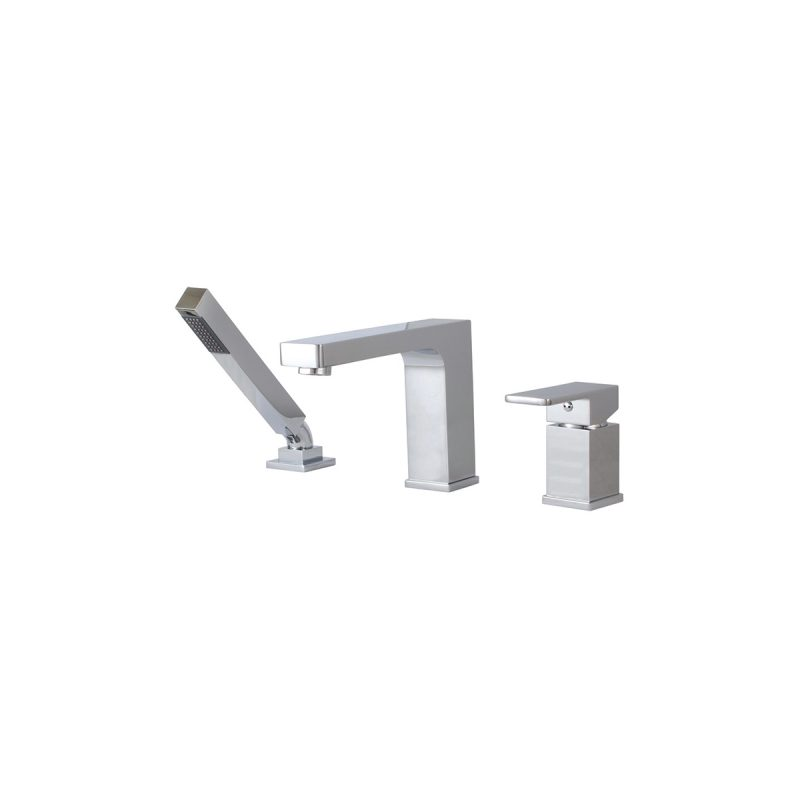 Aquabrass 86013 – 3 Piece Deckmount Tub Filler With Handshower