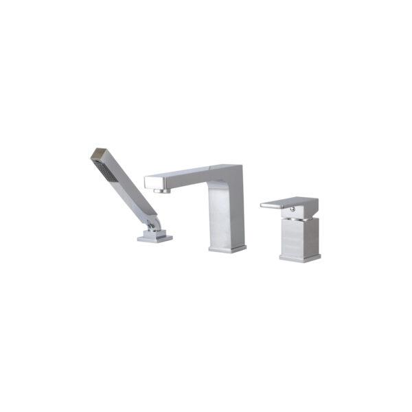 Aquabrass 86013 - 3 Piece Deckmount Tub Filler With Handshower