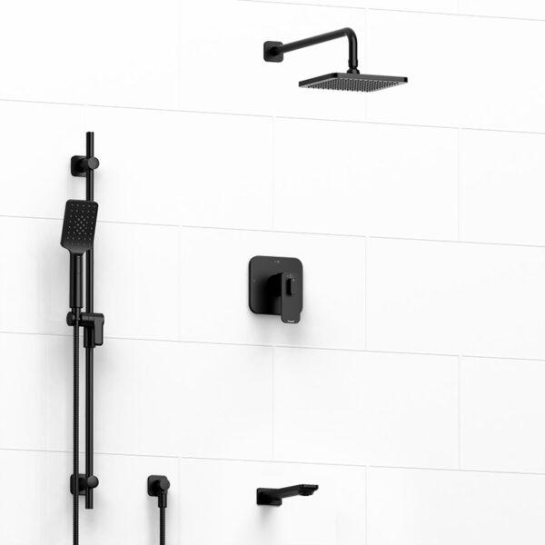 Riobel Kit1345EQBK - Equinox, 3 Way Shower Kit, in Black