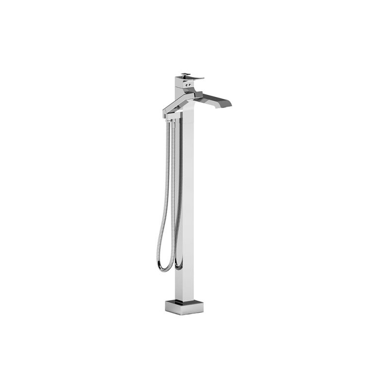 Riobel ZO39C – Zendo, Floor-Mount Tub Filler with Hand Shower, in Chrome