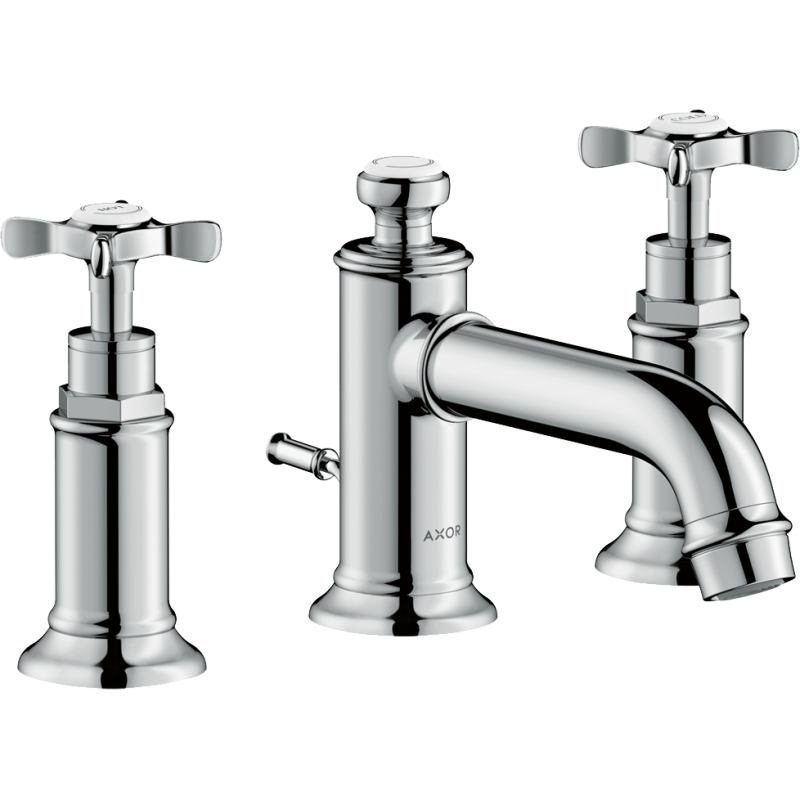 AXOR 16536001 – Montreux, Widespread faucet with Cross Handles and Pop-Up Drain
