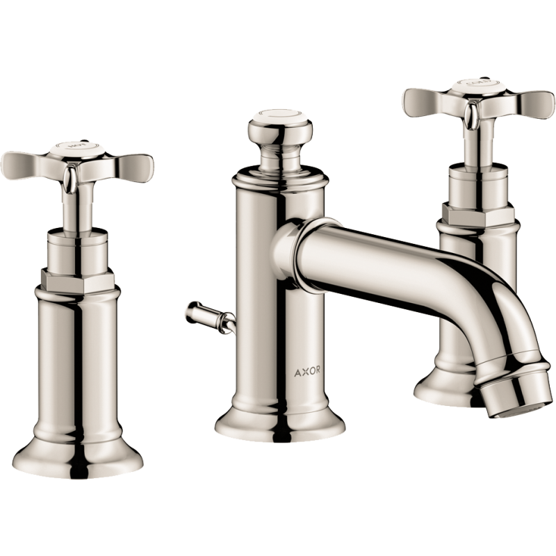 AXOR 16536831 – Montreux, Widespread faucet with Cross Handles, in Polished Nickel