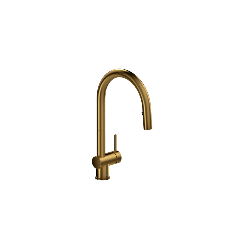 Riobel AZ201 – Azure, Kitchen Faucet with Spray, in Black, Brushed Gold, Stainless Steel and Chrome.