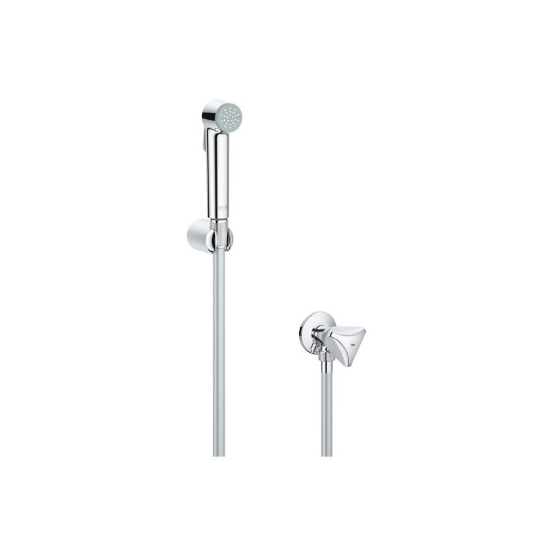 Grohe 27514001 – Tempesta-F Trigger Spray 30 Wall holder set with angle valve 1 spray
