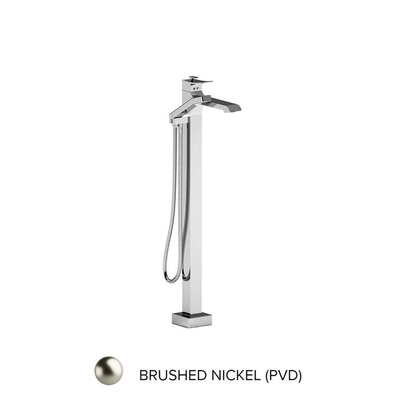 Riobel ZO39BN – Zendo, Floor-Mount Tub Filler with Hand Shower, in Brushed Nickel