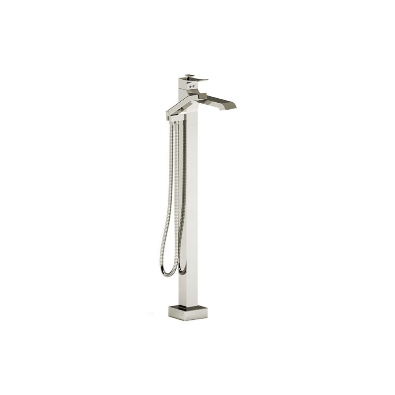 Riobel ZO39 – ZENDO, FLOOR-MOUNT TUB FILLER WITH HAND SHOWER, IN CHROME, BRUSHED NICKEL AND POLISHED NICKEL