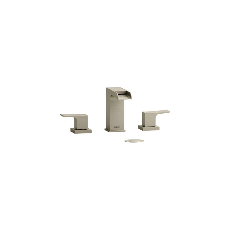 "Riobel ZOOP08BN - ZENDO, 8"" OPEN SPOUT FAUCET, in Brushed Nickel"