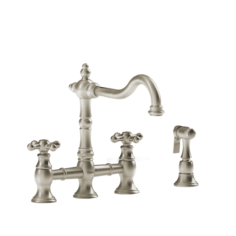 Riobel BR400+BN – Bridge Ktchen Faucet with Spray