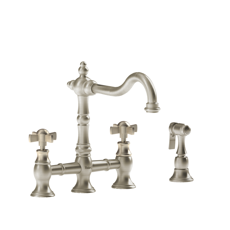 Riobel BR400XBN – Bridge Ktchen Faucet with Spray