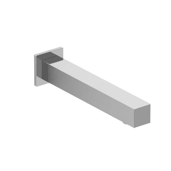 Riobel P885C - Square wall-mount tub spout