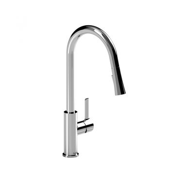Riobel PO101C - Pronto kitchen faucet with spray