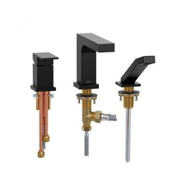 Riobel QA16BK - 3-piece Type P deck-mount tub filler with hand shower