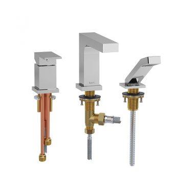 Riobel QA16C - 3-piece Type P deck-mount tub filler with hand shower